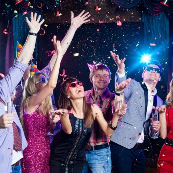 A new year's party with young people